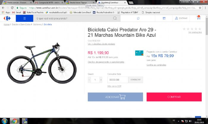 ebd63cc99 Caloi Predator aro 29 - Pedal.com.br - Forum