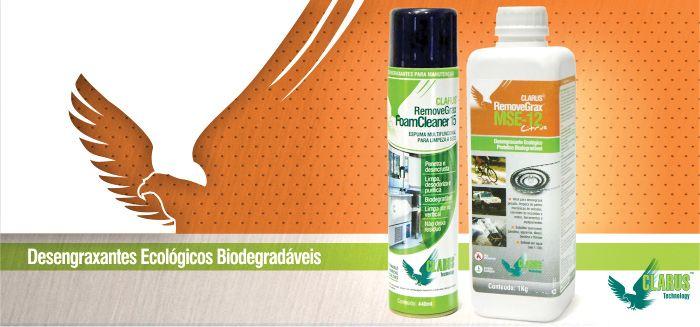 CLARUS Technology traz desengraxantes ecológicos nacionais com preços competitivos