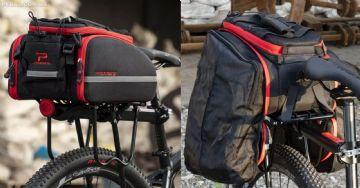 Promend traz bolsa bagageiro expansível e com alça