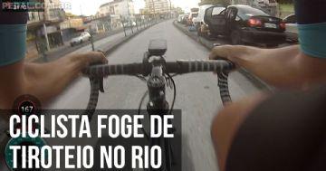 Ciclista filma fuga de tiroteio no Rio no sprint
