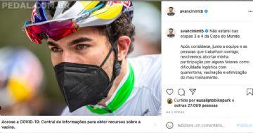 Henrique Avancini não correrá as próximas etapas da Copa do Mundo de MTB 2021
