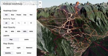 Strava - anuncia heatmaps agora em 3D