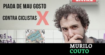 Humorista Murilo Couto faz piada com atropelamento de ciclistas