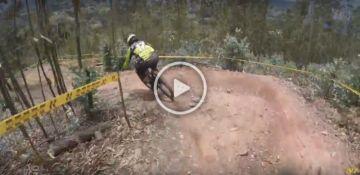 Pan-Americano de MTB 2017 - Downhill - Helmet Cam reconhecimento da pista com Giacomozzi e Markolf