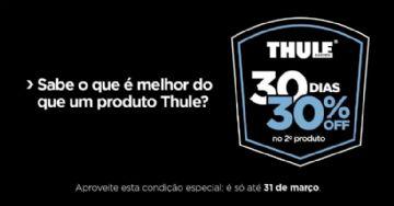 Thule oferece desconto de 30% na compra de um segundo produto