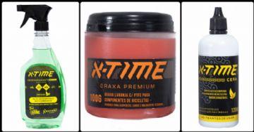 Linha de limpeza X-Time Lube traz diversos produtos para bikes e roupas