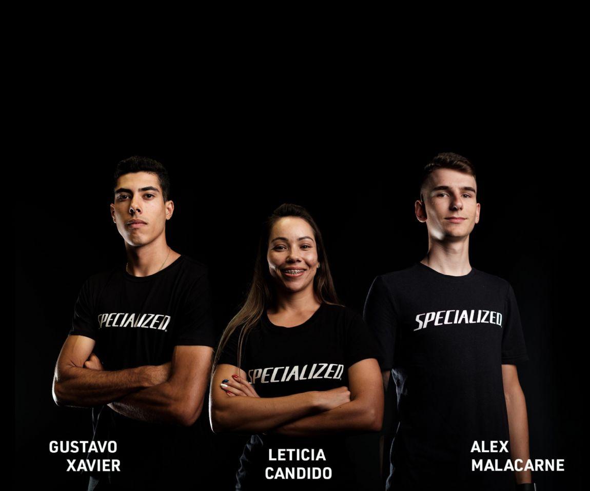 Equipe Specialized BR recebe os novos atletas Letícia Cândido e Gustavo Xavier com Alex Malacarne, para representar a marca nas principais competições