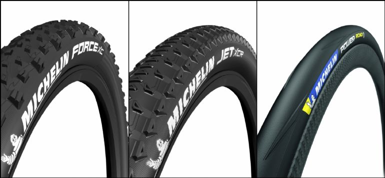 Michelin Force XC, JET XCR e Power Road